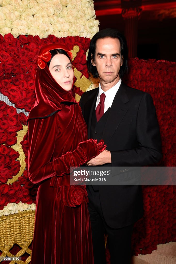 Susie Cave and Nick Cave attend the Heavenly Bodies: Fashion & The Catholic Imagination Costume Institute Gala at The Metropolitan Museum of Art on May 7, 2018 in New York City.