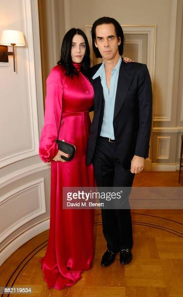 Susie Cave and Nick Cave attend the mothers2mothers Winter Fundraiser hosted by Salma Hayek Pinault and FrancoisHenri Pinault The dinner is in...