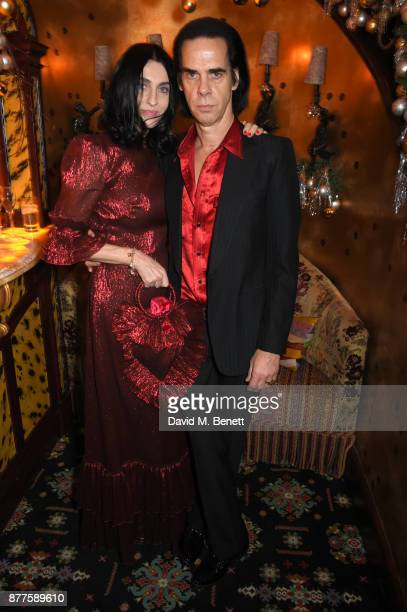 Susie Cave and Nick Cave attend the Nick Cave The Bad Seeds x The Vampires Wife x Matchesfashioncom party at Loulou's on November 22 2017 in London...