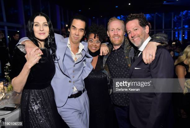 Susie Cave and Nick Cave both wearing Gucci Thomas Housego and guests attend the 2019 LACMA Art Film Gala Presented By Gucci at LACMA on November 02...