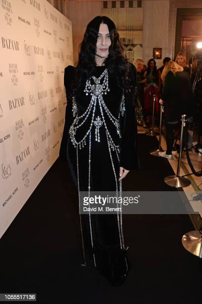 Susie Cave attends the Harper's Bazaar Women Of The Year Awards 2018 in partnership with Michael Kors and MercedesBenz at Claridge's Hotel on October...