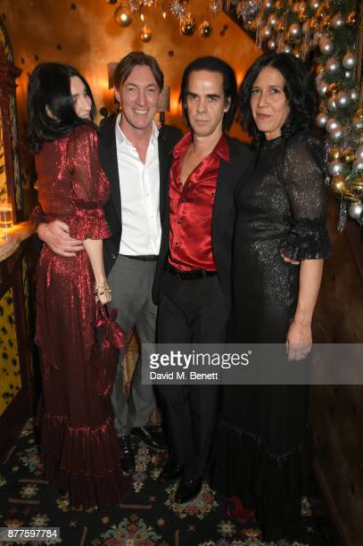 Susie Cave Brian Message Nick Cave and Alex Adamson attend the Nick Cave The Bad Seeds x The Vampires Wife x Matchesfashioncom party at Loulou's on...