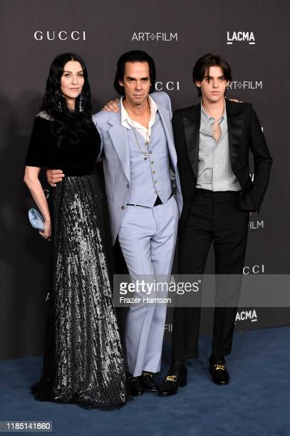 Susie Cave Nick Cave and Earl Cave attend the 2019 LACMA Art Film Gala Presented By Gucci at LACMA on November 02 2019 in Los Angeles California