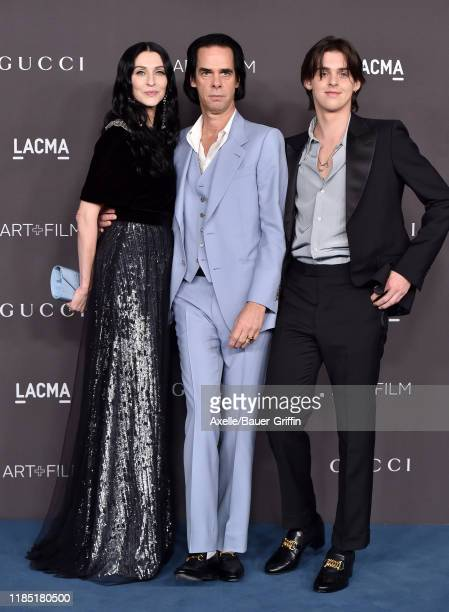 Susie Cave Nick Cave and Earl Cave attend the 2019 LACMA Art Film Gala Presented By Gucci on November 02 2019 in Los Angeles California