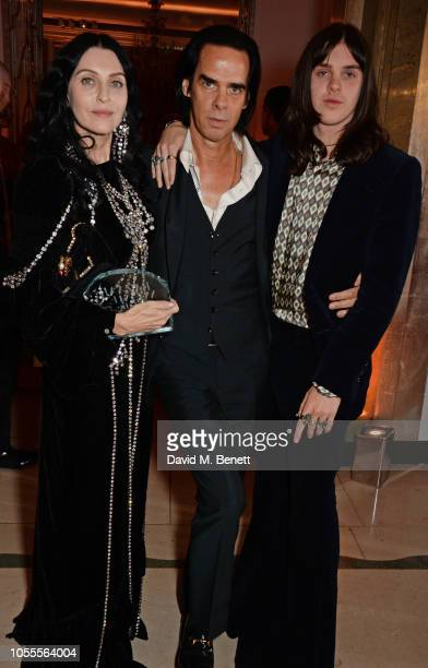 Susie Cave Nick Cave and Earl Cave attend the Harper's Bazaar Women Of The Year Awards 2018 in partnership with Michael Kors and MercedesBenz at...
