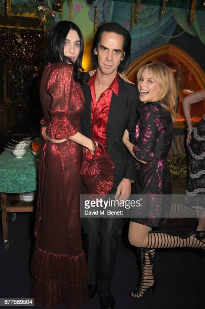 Susie Cave Nick Cave and Kylie Minogue attend the Nick Cave The Bad Seeds x The Vampires Wife x Matchesfashioncom party at Loulou's on November 22...