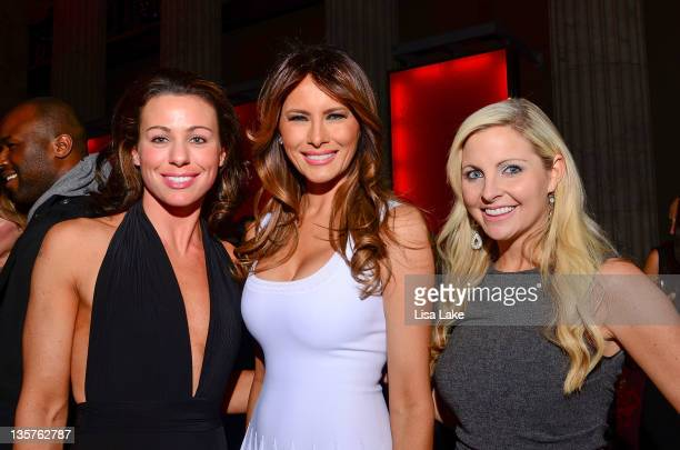 Susie Celik Melania Tump and Julie Dorenbos attend The Philadelphia Style Magazine cover event hosted by Melania Trump at Ritz Carlton Hotel on...