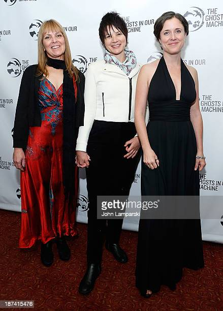 """Susie Coston, Liz Marshall and Jo-Anne McArthur attends The Ghost In Our Machine"""" New York Screening at Village East Cinema on November 8, 2013 in..."""