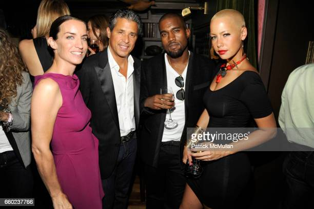 Susie Crippen Jeff Rudes Kanye West and Amber Rose attend J BRAND / HUSSEIN CHALAYAN Private Dinner at Hotel Griffou on July 29 2009 in New York City