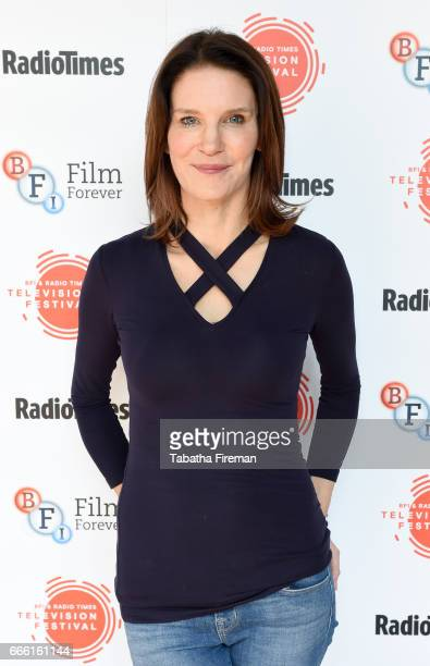 Susie Dent attends the BFI Radio Times TV Festival at the BFI Southbank on April 8 2017 in London England