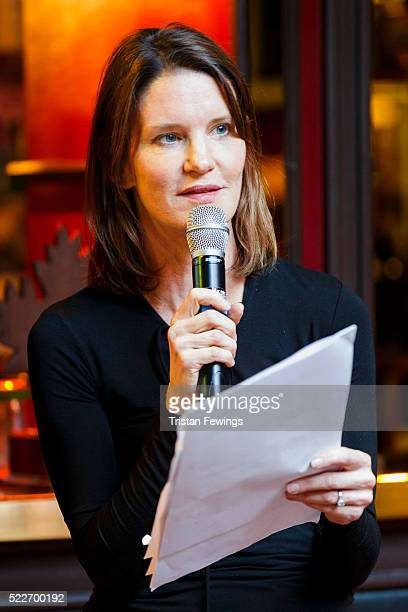 Susie Dent during the Smartest in Media Quiz at Advertising Week Europe 2016 at Ronnie Scott's on April 20 2016 in London England