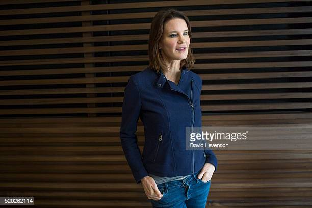 Susie Dent writer and broadcaster on language on Channel 4's Countdown photographed at the FT Weekend Oxford Literary Festival on April 10 2016 in...