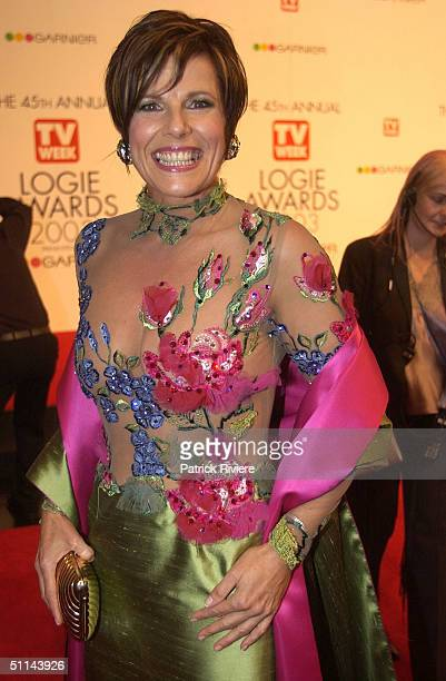 Susie Elelman arriving on the red carpet for the 45th Annual TV Week Logie Awards 2003 held at the Crown Casino Melbourne Australia