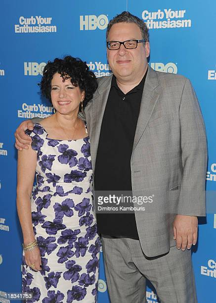 """Susie Essman and Jeff Garlin attend the """"Curb Your Enthusiasm"""" Season 8 premiere at the Time Warner Screening Room on July 6, 2011 in New York City."""