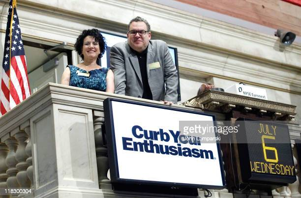 Susie Essman and Jeff Garlin ring the opening bell at the New York Stock Exchange on July 6, 2011 in New York City.
