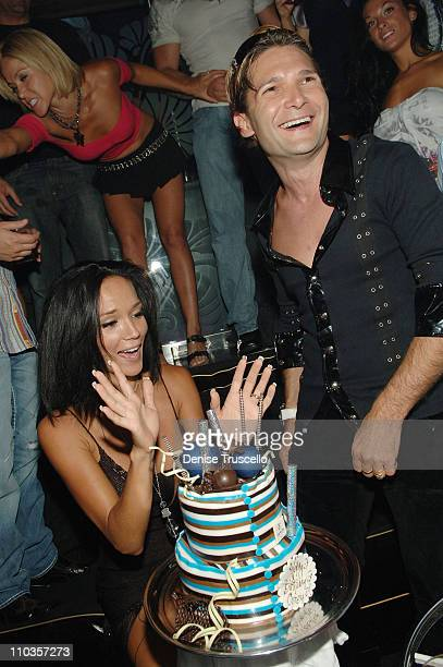 Susie Feldman and actor Corey Feldman celebrate Corey's birthday at The Bank Nightclub at The Bellagio Hotel and Casino on July 18 2008 in Las Vegas...