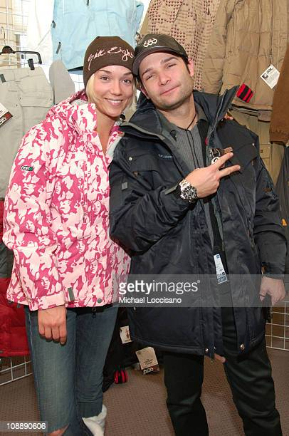 Susie Feldman and Corey Feldman in 686 suite during Fuel TV Chalet at Sundance and XDance 2006 Day 6 at Woodside in Park City Utah United States
