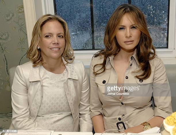 Susie Hilfiger and Melania Trump