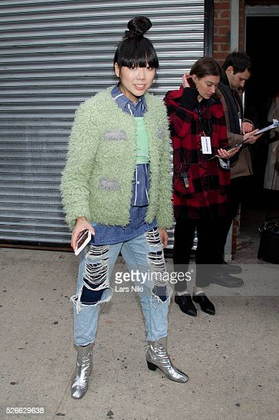 """Susie Lau at the """"Nicopanda Fashion Collection Presentation"""" arrivals during NYFW A/W 2016 at 541 West 22nd Street in New York City. �� LAN"""