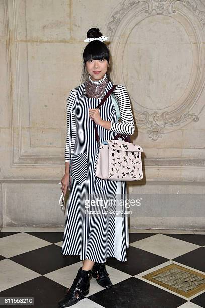 Susie Lau attends the Christian Dior show of the Paris Fashion Week Womenswear Spring/Summer 2017 on September 30 2016 in Paris France