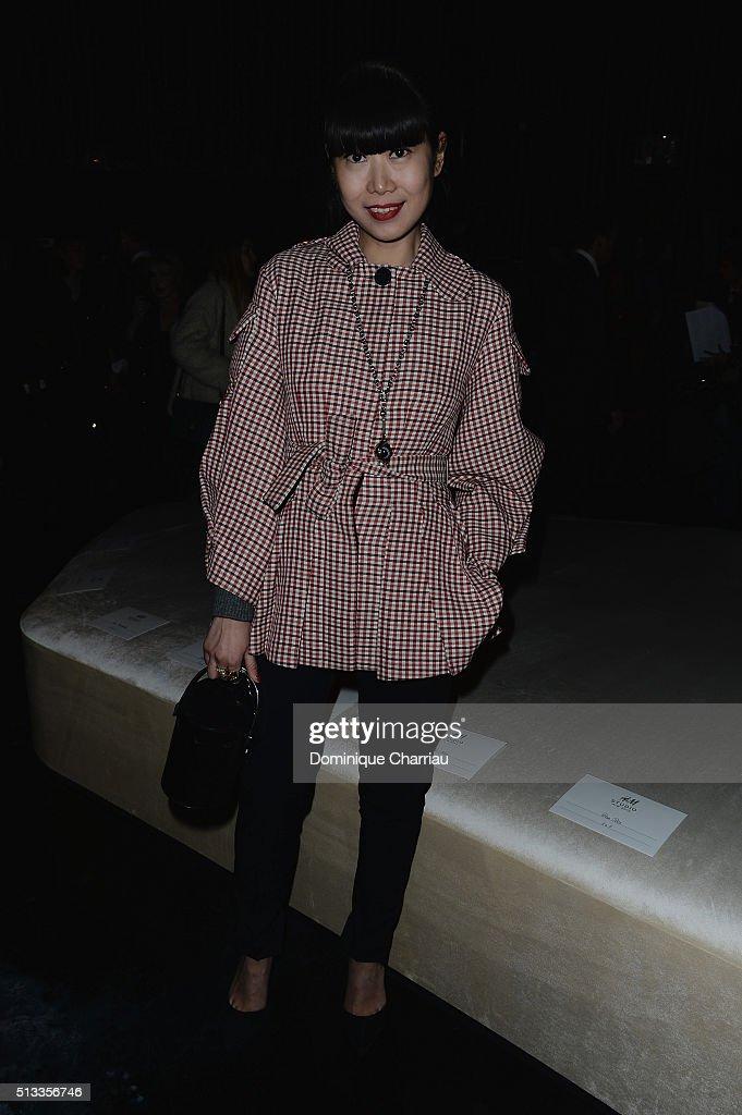 H&M : Front Row- Paris Fashion Week Womenswear Fall/Winter 2016/2017