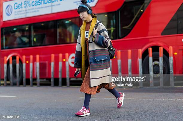 Susie Lau attends the London Collections Men AW16 on January 08 London England United Kingdom