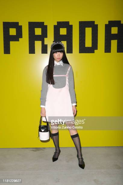 Susie Lau attends the Prada Show during Milan Fashion Week Fall/Winter 2019/20 on February 21, 2019 in Milan, Italy.