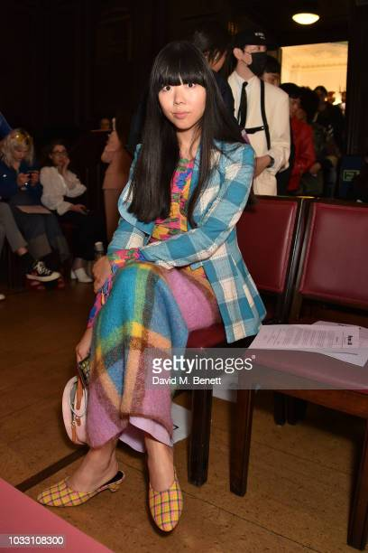 Susie Lau attends the Ryan LO front row during London Fashion Week September 2018 at Stationers' Hall on September 14 2018 in London England