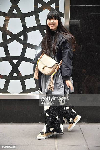 Susie Lau is seen arriving at Polo Ralph Lauren presentation during Fall 2016 New York Fashion Week on February 12 2016 in New York City