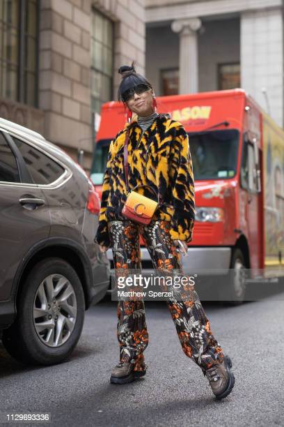 Susie Lau is seen on the street during New York Fashion Week AW19 wearing Michael Kors on February 13 2019 in New York City