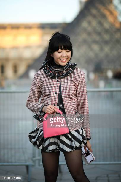 Susie Lau is seen outside Louis Vuitton show during Paris Fashion week Womenswear Fall/Winter 2020/2021 Day Nine on March 03 2020 in Paris France