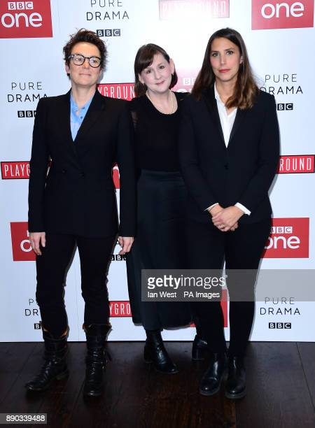 Susie Ligatt Heidi Thomas and Vanessa Caswill arriving at the Little Women Screening held at The Soho Hotel London PRESS ASSOCIATION Photo Picture...