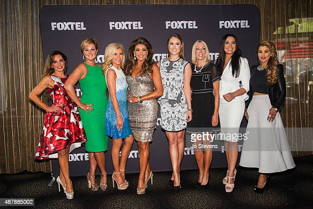 Susie McLean Chyka Keebaugh Gamble Breaux Gina Liano Jackie Gillies Janet Roach Lydia Schiavello and Pettifleur Berenger during the Real Housewives...