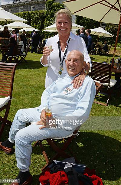 Susie Moss and Stirling Moss attend the Cartier Style Luxury Lunch at the Goodwood Festival of Speed on June 29 2014 in Chichester England