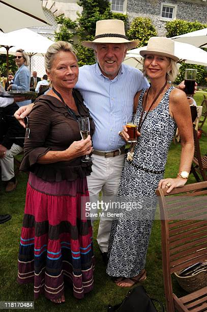 Susie Moss David Richards and Karen Richards attend Cartier Style Luxury Lunch At Goodwood Festival of Speed at Goodwood on July 03 2011 in...