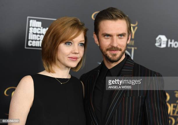 Susie Stevens and actor Dan Stevens attend the New York special screening of Disney's liveaction adaptation 'Beauty and the Beast' at Alice Tully...