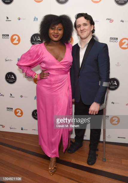 Susie Wokoma and Daniel Monks attend The WhatsOnStage Awards 2020 at The Prince of Wales Theatre on March 1 2020 in London England