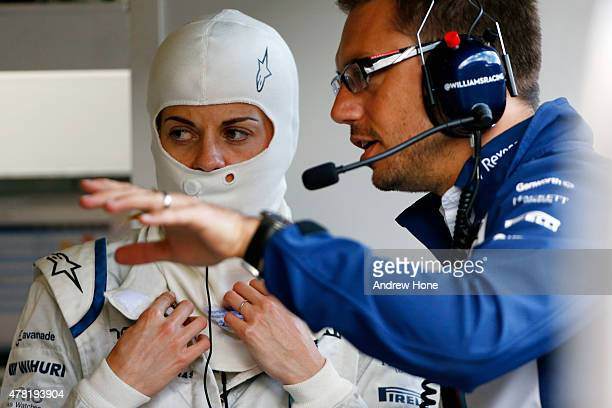 Susie Wolff of Great Britain and Williams F1 Team drives during Formula One testing at the Red Bull Ring on June 23 2015 in Spielberg Austria