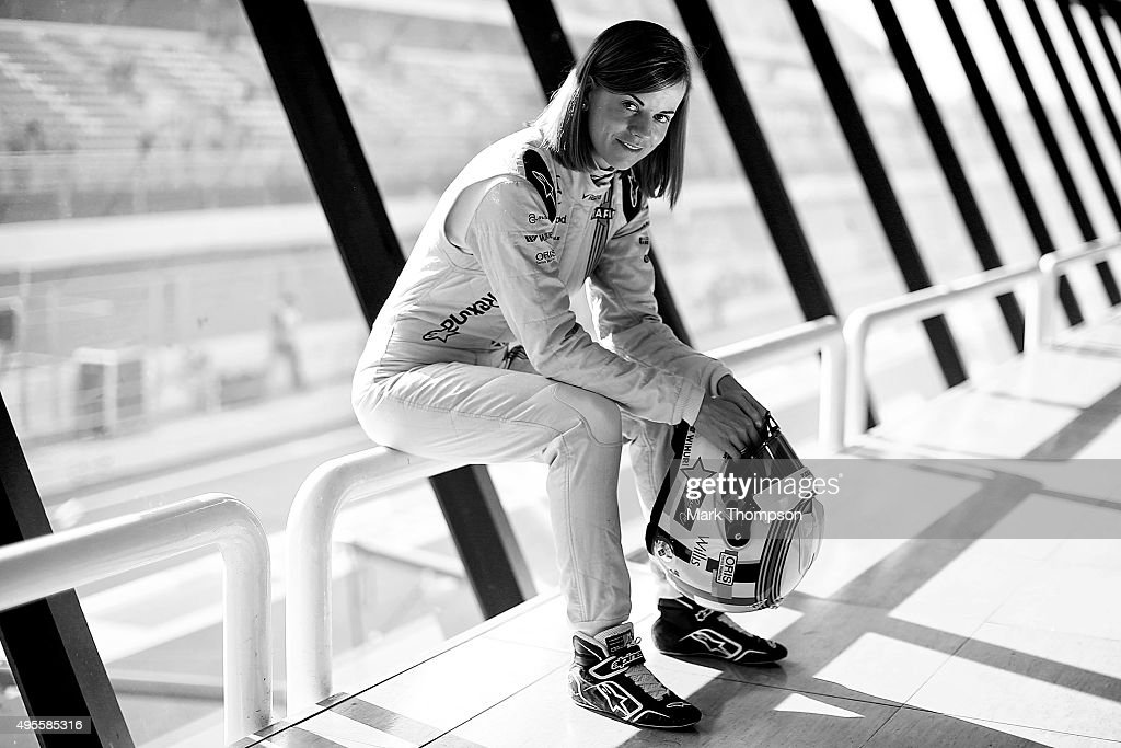 Susie Wolff of Great Britain and Williams poses for a portrait during day two of Formula One Winter Testing at Circuit de Catalunya on February 20, 2015 in Montmelo, Spain.