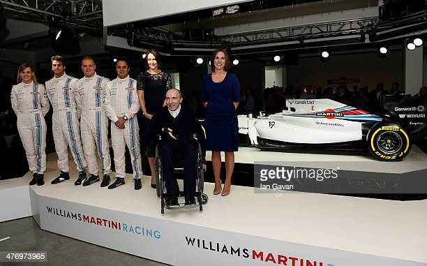 Susie Wolff Valtteri Bottas Felipe Massa and Felipe Nasr Martini Senior Category Director Sandy Mayo Williams Team Principal Sir Frank Williams and...