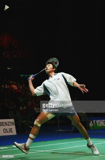 Susilo Ronald of Singapore in action during the Yonex All England Open Badminton Championships at the National Indoor Arena on March 13, 2004 in...