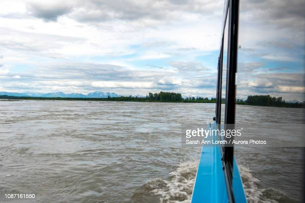 susitna river in talkeetna, alaska, usa - mt. susitna stock pictures, royalty-free photos & images