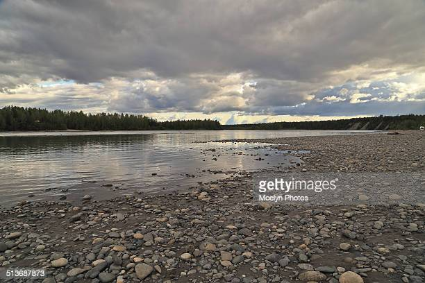 susitna river - mt. susitna stock pictures, royalty-free photos & images