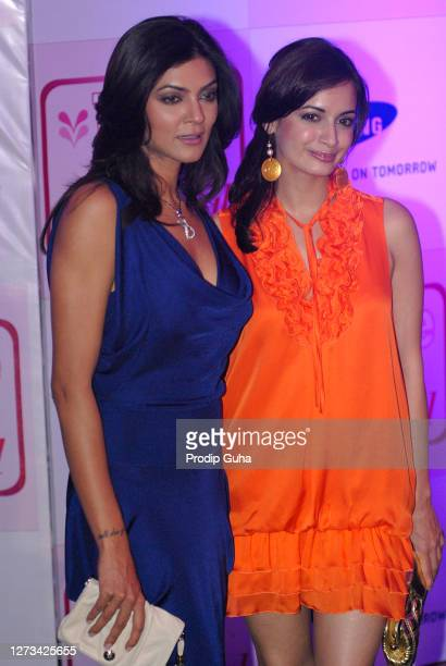 Susmita Sen and Dia Mirza attend the People magazines 'Most Beautiful' bash on June 16, 2010 in Mumbai, India