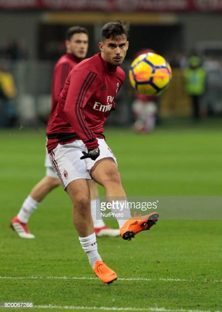 Suso during the Italian Serie A football match between AC Milan and Sampdoria at the San Siro stadium in Milan on February 18 2018