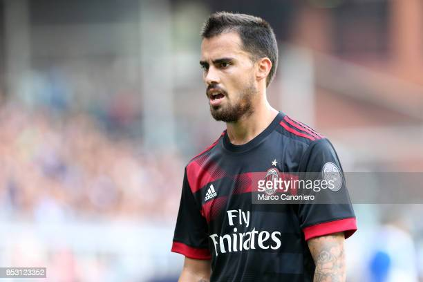 Suso of Ac Milan during the Serie A football match between Uc Sampdoria and Ac Milan Uc Sampdoria wins 20 over Ac Milan