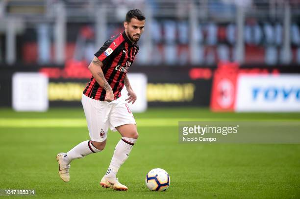 Suso of AC Milan in action during the Serie A football match between AC Milan and AC ChievoVerona AC Milan won 31 over AC ChievoVerona