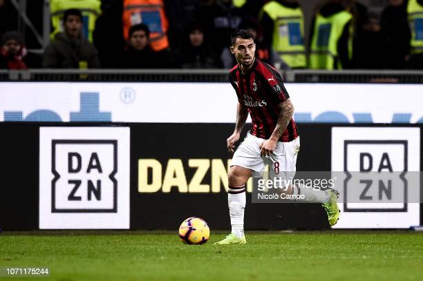 Suso of AC Milan in action during the Serie A football match between AC Milan and Torino FC The match ended in a 00 tie