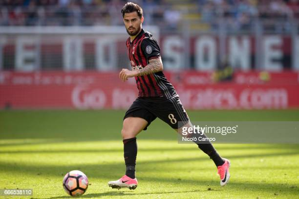 Suso of AC Milan in action during the Serie A football match between AC Milan and US Citta di Palermo AC Milan wins 40 over US Citta di Palermo