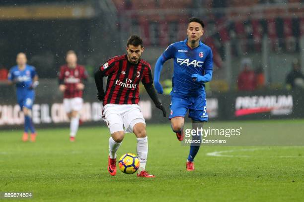 Suso of Ac Milan in action during the Serie A football match between AC Milan and Bologna Fc Ac Milan wins 21 over Bologna Fc